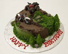 4 wheeler racing birthday cake | Quad Atv Off Road 4 Wheeler Wedding Cake Topper Sexy Funny Green ...