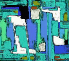 Anvil 3 Print download Abstract coloured blocks panels shapes interacting together in a complex dynamic and active design Digital painting by KeithMills on Etsy