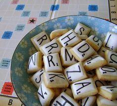 Scrabble Sugar Cookies... mom's next birthday cake?
