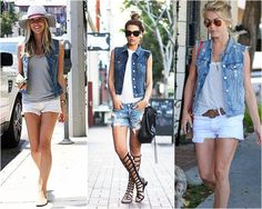 29 Creative Fashion Looks That Will Make You Look Great - Global Outfit Experts Denim Jacket Outfit Summer, Jean Vest Outfits, Vest Outfits For Women, Casual Outfits, Clothes For Women, Woman Outfits, Denim Outfit, Fast Fashion, Look Fashion