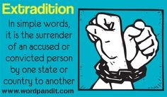 「extradition」〔犯罪(容疑)者の管轄国への〕送還