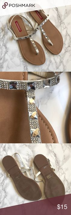 Unionbay Jewel Encrusted Sandals Unionbay jewel encrusted sandals are a women's size 9.5 and have never been worn.  These sandals are perfect for spring and summer!!! UNIONBAY Shoes Sandals