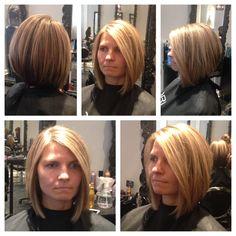 LOB. LONG BOB Haircut vanitysalonnj Long Bob Haircuts, Bob Hairstyles, Love Hair, Great Hair, Gorgeous Hair, Pinterest Hair, Haar Make-up, Hair Health, Crazy Hair