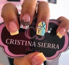 French Manicure Nail Designs, Nail Spa, Summer Nails, Work Nails, Gold Nails, Short Nail Manicure, Nail Manicure, Ongles, Summery Nails