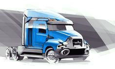 sketch truck MAZ on Behance