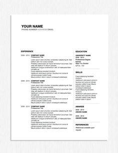 clean simple look creative resume design resume style cv