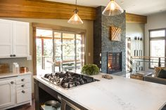 Blog Cabin's kitchen opens to the great room >> http://www.diynetwork.com/blog-cabin/2015/great-room-pictures-from-diy-network-blog-cabin-2015-pictures?soc=pinterestbc15