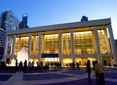 Johnson's New York State Theater, now known as the David H. Koch Theater, at Manhattan's Lincoln Center opened in 1964 and has served as the home of the New York City Ballet for over 50 years. The theater was initially built as part of the 1964–65 World's Fair.