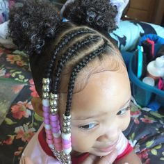 98 Amazing Braided Hairstyles for Little Girl In Braided Hairstyles for Little Girls African American, 42 Braid Hairstyle Ideas for Teens Best Braided Hairstyles, 133 Gorgeous Braided Hairstyles for Little Girls, toddler Braided Hairstyles with Beads. Toddler Braided Hairstyles, Cute Little Girl Hairstyles, Little Girl Braids, Natural Hairstyles For Kids, Braids For Kids, Natural Hair Styles, Curly Hair Styles, Toddler Braids, Black Toddler Girl Hairstyles