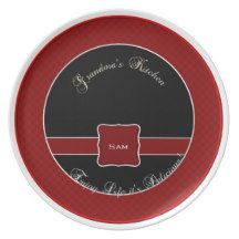 Chex Plate RED Grandma's Kitchen #red #chex #plate #grandma Assorted Colors personalized.