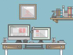 Workspace by Zachary VanDeHey, via Behance