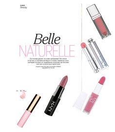 """""""Belle Naturelle!!!"""" by minadinamike on Polyvore featuring beauty, Christian Dior, Maybelline, NYX and Clarins"""
