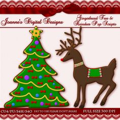 Gingerbread Tree and Reindeer PspScripts $6.00 - 60% off this month :) Also available as Photoshop layered template http://www.joannes-digital-designs.com/gingerbread-tree-and-reindeer-pspscripts-p-2271.html