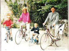 bicycles and family.