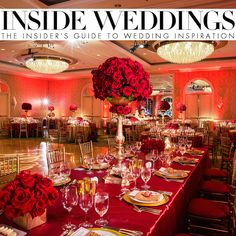 Romantic Red & Gold Wedding featured on Inside Weddings - Venue + Cake: Four Seasons Beverly Hills Photographer: Lin and Jirsa Planner: The Perfect Fairytale Floral Design: Flowers by Cina Gown Designer: Liancarlo Bridal Chargers: Classic Party Rentals Linens: Luxe Linen Lighting, Photo Booth: Bliss Entertainment Event Group Hair & Makeup: Dolled up by LuLu Invites: Wedding Paper Divas Place Cards: Details Beyond Design