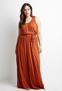 Self-Tie Maxi Dress - Plus Size - New Arrivals - 2000079854 - Forever 21 EU English