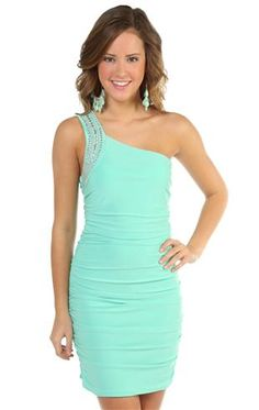 Deb Shops one shoulder club dress with double ruched sides 8th Grade Prom Dresses, Lace Homecoming Dresses, Homecoming Ideas, Dressy Dresses, Club Dresses, Dress Outfits, Cute Outfits, Fabulous Dresses, Stunning Dresses