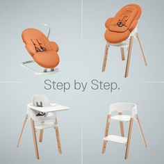 Grows with baby, step by step. STOKKE STEPS –award winning modular design!