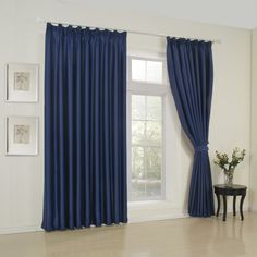 (Two Panels) Classic Solid Ink BlueRoom Darkening Curtain. Get wonderful discounts up to Off at Light in the box using Coupons. Cheap Curtains, Blue Curtains, Room Darkening Curtains, Blackout Curtains, Minimalist Curtains, Minimalist Home Decor, Minimalist Design, Living Room Drapes, Blue Rooms