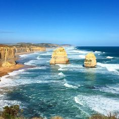 #WanderlustWednesday to Australia's great ocean road and the twelve apostles.  Breathtaking views clear skies and crashing waves  #Australia #twelveapostles #12apostles #GreatOceanRoad #beach #beaches #beachvibes #travel #travelers #traveling #solotravel #follow #wanderlust #ocean #waves #love #beautiful #beautifuldestinations #thebestlife #instagood by whitney587