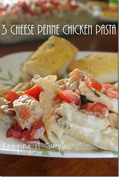 #ad Chicken Pasta Idea: 3 Cheese Penne Pasta. Just like the Applebees recipe. #recipe #chicken #pasta #keepingitsimplecrafts
