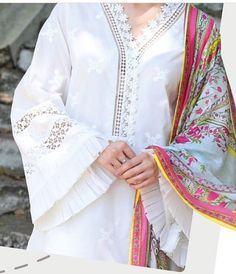 Neck Designs For Suits, Sleeves Designs For Dresses, Neckline Designs, Dress Neck Designs, Stylish Dress Designs, Kurti Sleeves Design, Kurta Neck Design, Simple Kurti Designs, Kurta Designs Women