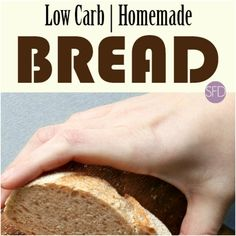 Low carb and keto dieters can really eat bread. This is the recipe for how to make Homemade Low Carb Bread. This bread is amazing! Low Carb Flour, Low Carb Bread, Low Carb Keto, Carb Free Recipes, Best Low Carb Recipes, Flour Recipes, Bread Recipes, Sugar Free Peanut Butter, Sugar Free Chocolate