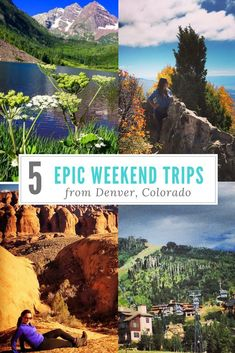 Denver, Colorado is perfectly positioned for tons of adventures. Make the most of your weekend getaway with these easy road trips! #TravelDestinationsUsaCalifornia