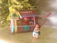 Dollhouse miniature snowman ornament scale one inch by NatAcademy