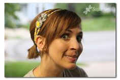 good tutorial on how to make these no sew headbands and an easy video tutorial link to the fabric flower. . . .so easy