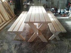Zahradní nábytek 2ks lavice d.180x42cm. Stůl 180x70cm. Síla materiálu