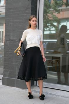 A much needed reminder that fashion should always be fun. the skirt