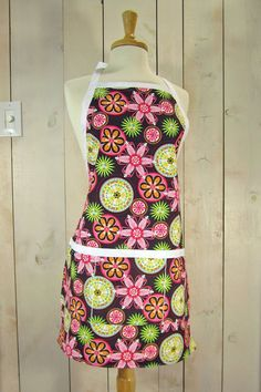 Carnival Bloom Womens Apron Full Apron by luckyduckydesigns, $44.00 , I have one of her aprons and it is SO nice!