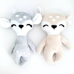 Cute fawn and deer. Soft toys