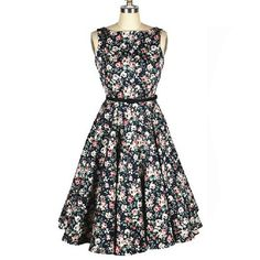 Vintage Scoop Neck Pleated Floral Print Sleeveless Country Dress For WomenVintage Dresses | RoseGal.com