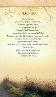 Le preghiere più belle - BuongiornoConGesu.it Madonna, Italian Vocabulary, Prays The Lord, Italian Quotes, Desiderata, Italian Language, Catholic Prayers, Reading Material, Christian Inspiration