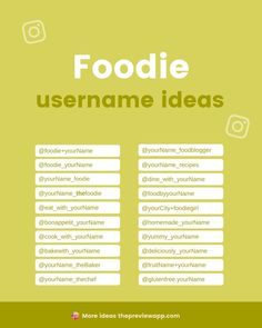 Do you have a restaurant, café, bar? Or maybe you are a food blogger? If you are a foodie and need Instagram username ideas, check out this awesome list! Perfect for all types of food accounts, from food bloggers wanting to share their recipes to restaurants sharing their 5 star dishes. #instagramtips #instagramstrategy #instagrammarketing #socialmedia #socialmediatips