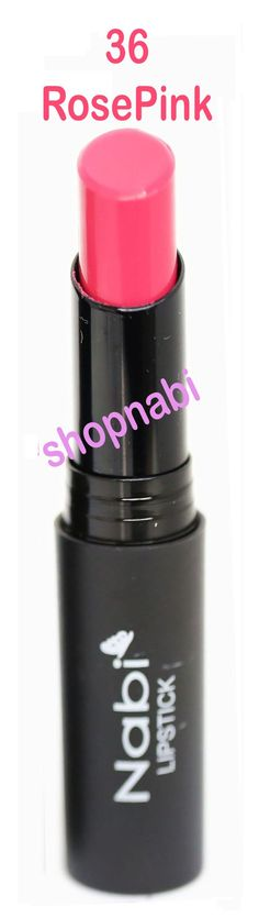 Lipstick Nabi Round Lipstick - 36.Rose Pink. For Rich, smooth color, Soft-Shine and irresistible lips. Provides rich, long-lasting color.