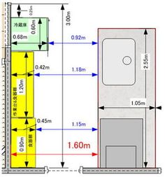 The size of the kitchen until the floor plan is decided- 間取りが決まるまで キッチンの広さ The size of the kitchen until the floor plan is decided - Floor Plan Symbols, Kitchen Measurements, Kitchen Drawing, Hotel Room Design, Home Interior Design, Interior Architecture, Japanese Interior, Door Makeover, Paint Colors For Living Room