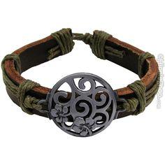 Flower Swirl Bracelet on Sale for $5.95 at The Hippie Shop ($5.95) via Polyvore