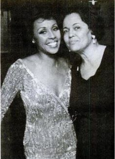 Diahann Carroll and her mother Mabel Johnson at a post-Oscar dinner party in her honor on April 5, 1975. Diahann was nominated for Best Actress for her role in Claudine.