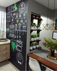 Cool Wall Decor, Modern Kitchen Interiors, Chalk Lettering, Window Styles, Love Home, Chalkboard Art, Chalkboards, Sweet Home, Bedroom Decor