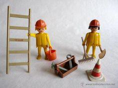Clicks de Famobil - Obreros - Trabajadores de la construcción - Playmobil