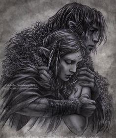 Fantasy & Sci fi art by Adele Lorienne Fantasy Love, Fantasy Romance, Fantasy World, Legolas, Elfen Fantasy, Fantasy Couples, Deviant Art, Couple Art, Sci Fi Art
