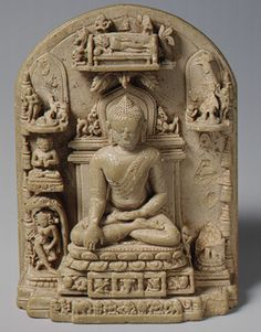IMAGES OF LIFE OF THE BUDDAH   Plaque with scenes from the life of the Buddha , Pala or Pagan period ...