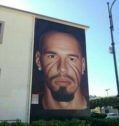 Street art - Marek Hamsik by Jorit Agoch - Quarto (Naples)