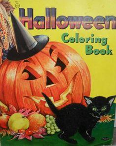 Vintage Halloween Coloring Book Halloween Ii, Retro Halloween, Halloween Banner, Halloween Books, Halloween Coloring, Holidays Halloween, Happy Halloween, Halloween Decorations, Halloween Ideas