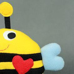 Pszczoła - przytulanka, mini poduszka-rękodzieło / Bee - hand made toy, minipillow
