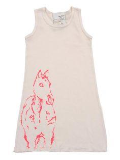Shirin NYC - little girls Horse Rib Tank Dress