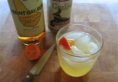Weekend Cocktail: Dark and StormyAll you need is Mount Gay Rum, Gosling Ginger Beer, and lime. Here we used a Rangpur lime, which is a cross between a mandarin orange and a lemon—we love the way it looks in this drink! Fill the glass up with ice, pour in your rum, a 3 count pour, and then fill to top with the ginger beer. Squeeze in 2 quarters of lime.